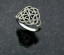 Eternity Love knot Celtic Shamrock Cross Ring