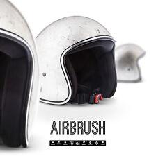 REBEL R3 SILVER Jet-Helm Vespa Roller Motorrad-Helm BLATT-SILBER XS - XL
