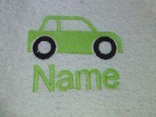 Auto und Name Zur Auswahl Bestickt bis zu Handtücher Bademäntel Kapuzen Handtuch
