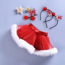 1 Set Baby Girls Kids Christmas Tutu Ballet Skirts Fancy Party Skirt + Hair Hoop