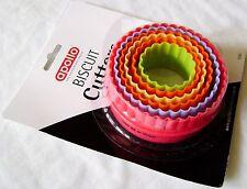 6 Nuevos Colores Galleta Cookie ¿ Cortadores Redondos Arruga Borde Apollo