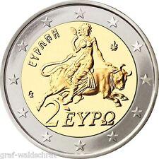 2 Euro GRIECHENLAND ab 2002 alle Jahre - unc - frei wählbar