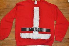 Santa Clause Suit Christmas Sweatshirt Holiday Adult Sizes Costume