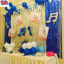 New 2M-3M Foil Fringe Shimmer Door Curtain Wedding Birthday Party Decoration UK