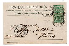 FRATELLI TURCO VERONA FABBRICA CONFETTURE CARAMELLE PASTIGLIE 1916 ALIMENTARI