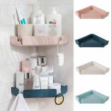 Plastic Bathroom Corner Shelf Wall Mounted Shower Storage Racks Holder Organizer