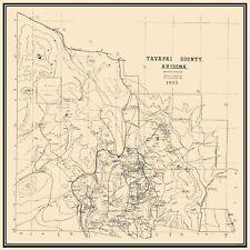 Old County Map - Yavapai Arizona - 1903 - 23 x 23