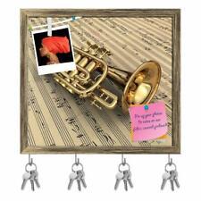 Music Notes Key Holder Hooks Pin Board Home Wall Key Holder Hook