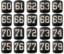 #60-79 Number Sweatband Wristband Football Baseball Basketball Black Money Print