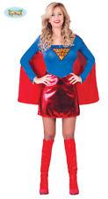GUIRCA Costume vestito eroina  superwoman carnevale donna mod. 8484_
