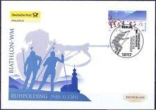 BRD 2012: Biathlon-WM in Ruhpolding Post-FDC der Nr. 2912 mit Berliner Stempel!