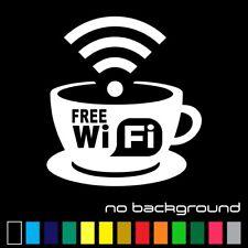 Free Wifi Spot Sticker Vinyl Decal - Wireless Hotspot Store Business Window Sign