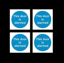 Questa porta è allarmata-Firmare, Adesivo - 85mm x 85mm-confezione da 4