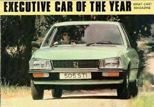 Peugeot 505 1980 UK Market Smaller Format Sales Brochure GR GRD SR SRD Ti STi