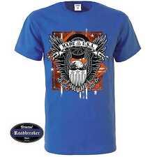 T-Shirt blu reale Vintage HD motivo Biker & oldschool M-XXL Modello Realizzati