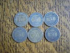 lot de 6 pieces bon pour 50 centimes