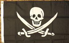 Jack Rackham 3x2 Flag Pirates of the Caribbean Fancy Dress Party Skull Crossbone