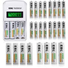 AA AAA Rechargeable Batteries Lot 800mAh 1100mAh /2300mah 2800mah / LCD Charger