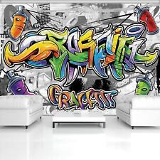 Fototapete Tapete Wandbild 1-20198_P Photo Wallpaper Mural Buntes Graffiti