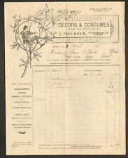 """ANGERS (49) LOCATION de COSTUMES de THEATRE & CHAR CARNAVAL """"J. FAUCHEUX"""" 1928"""
