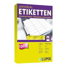 Luma Universal Etiketten 10 Blatt A4 Weiß Format nach Wahl Vielzweck-Etiketten