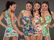 Sommerkleid Minikleid Kleid mit Blumen Muster