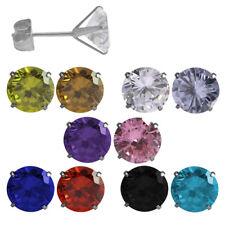 1 Paar Ohrstecker Chirurgenstahl Ohrringe mit rundem Glaskristall