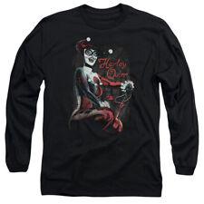 Batman Laugh It Up Mens Long Sleeve Shirt Black