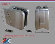 Edelstahl V2A Glashalter für Rohr 42,4 Glasklemme Glass Clamp + Sicherungsplatte