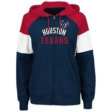 Houston Texans Womens Sweatshirt Hot Route Zip Up Hoody by Majestic