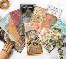 60Pcs/Set Washi Paper Gilding Scrapbooking Stickers Vintage DIY Diary Decor Seal