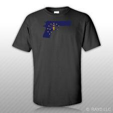 Indiana Flag 1911 T-Shirt Tee Shirt Cotton IN 2a gun rights molon labe pro