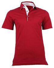 Pal Zileri Sartoriale Men's Cotton Polo T Shirt Maroon color, size 2XL