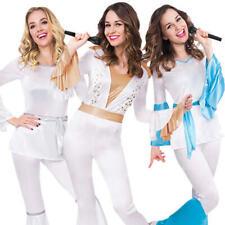 70s Dancing Queen Ladies Fancy Dress 1970s Disco Diva Singer Adults Costumes