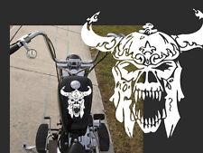 "Motorcycle viking  skull Gas tank decal Harley 11""x10"""