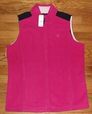 NEW NWT Brooks Brothers Womens Polar Fleece Vest Jacket $69 Front Zipper Pink