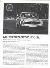 1963 Mercedes 230-SL  Road Test report