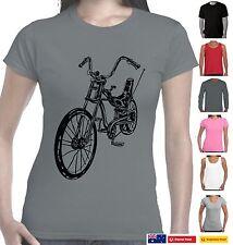 Funny T-Shirts 1970's Dragster push bike costume gift retro prints design Aussie