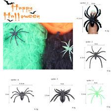 Halloween Decoration Spooky Spiders Black Plastic Toy Spiders Screaming Joke Toy