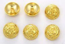 6 bottoni in metallo serie marina - CORDA INTRECCIATA - sailor buttons