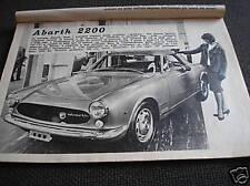 FIAT 2200 ABARTH ELLENA SU  200 ALL'ORA 1961