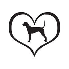Heart Plott Hound Love - Decal Sticker - Multiple Color & Sizes - ebn1497