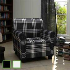 Fauteuil en tissu Sofa en tissu Fauteuil de salon Canapé tissu Noir/Blanc crème