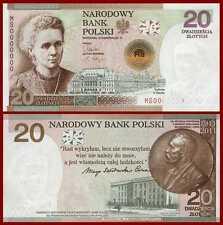 ■■■ Poland 20 zl P-182 Marie Maria SKLODOWSKA-CURIE  Comm 2011 UNC in Folder ■■■