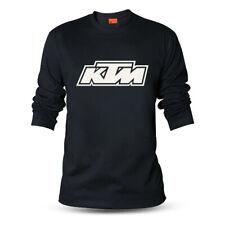 Genuine Official KTM MX Motorcycle Duke Motocross Black Long Sleeve Tee T-Shirt