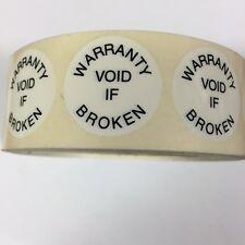 Tamper Evident Warranty Void if Broken Seals /  Labels (Stickers) 25mm diameter