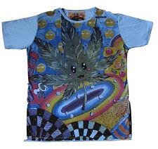 Mens Mirror T Shirt Cannabis Leaf Boho Purple Dope Rasta Hippy Rare Cotton M