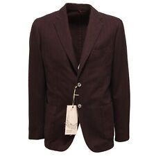 3416Q giacca spinata uomo marrone cotone PANAMA JACKET jacket men