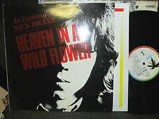 NICK DRAKE HEAVEN IN A WILD FLOWER '85 ISLAND LP A1/B1! ilpm9826 vinyl w/inner!!