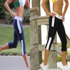 Pop Women Elastic Yoga Running Pants Cropped Sport Leggings for Fitness GYM LIN